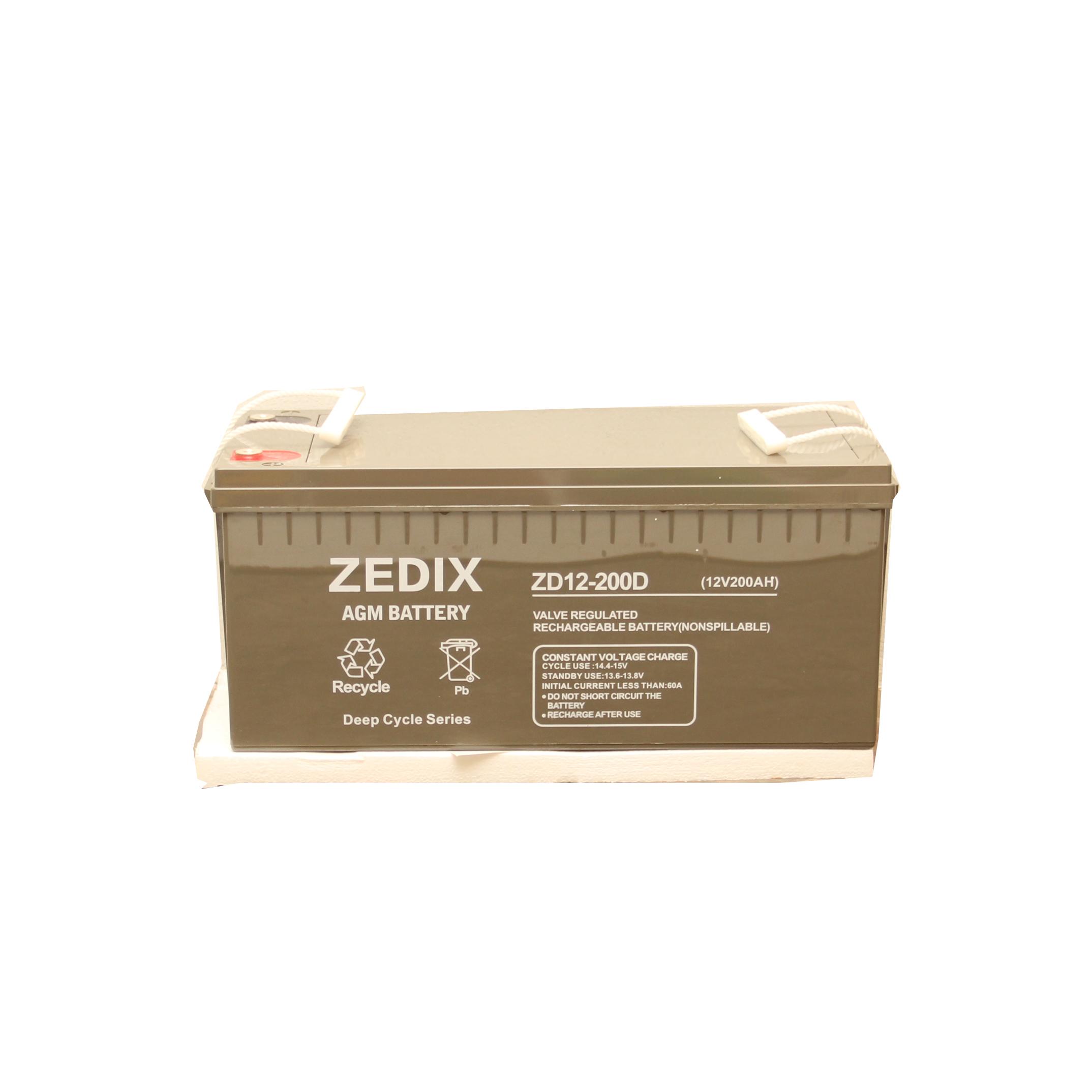 zedix 200ah 12v deep cycle battery ashdam solar. Black Bedroom Furniture Sets. Home Design Ideas